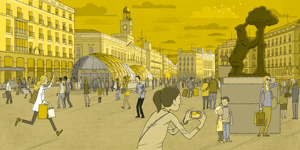 Juan Berrio, Puerta del Sol